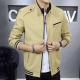 Classic Fashion Casual Zipper Jacket-unisex-wanahavit-Khaki Asian Size-M-wanahavit