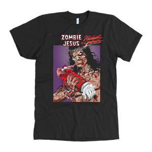 Zombie Jesus VS Michael Jackson • Original Design By Robin Thompson • FREE Digital Horror Anthology Included With Purchase!!!