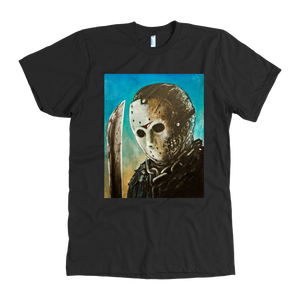 Jason With Machete From Friday The 13th Part VII • Original Design By Joel Shelton • FREE Digital Horror Anthology Included With Purchase!!! - House Of 1000 T Shirts