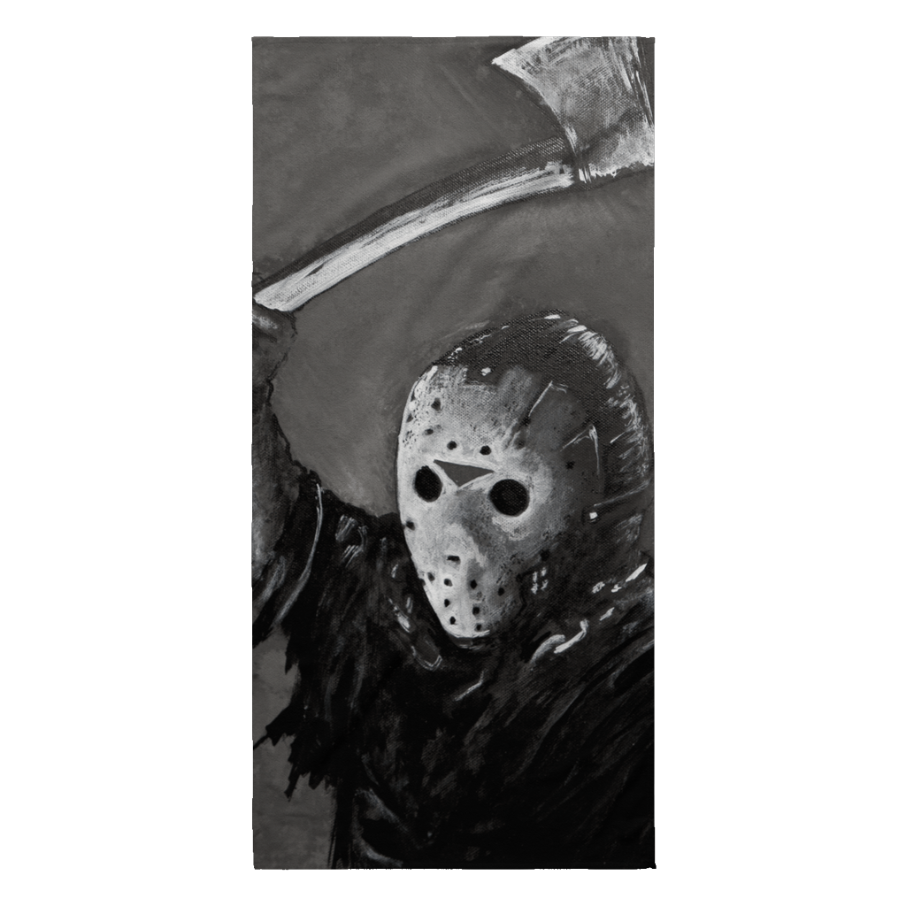 Jason With Axe Beach Towel From Friday The 13th Part I • Original Design By Joel Shelton • Sport The Beach With This Unique Beach Towel - House Of 1000 T Shirts