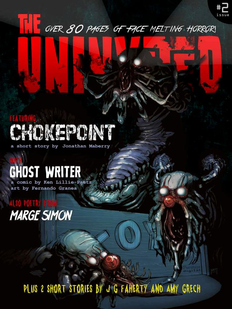 The Uninvited Magazine #2 • Digital Horror Magazine Featuring Original Art & Stories By Artists From Around The World - House Of 1000 T Shirts