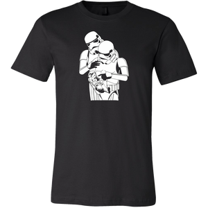 Stormtrooper Parents With Baby Stormtrooper - Star Wars Parody - FREE Digital Horror Anthology Included With Purchase!!! - House Of 1000 T Shirts