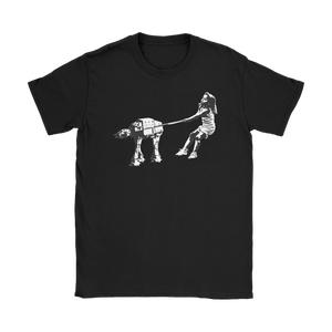Star Wars Banksy Girl With AT-AT On Leash • Star Wars Parody • FREE Digital Horror Anthology Included With Purchase!!!