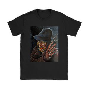 Freddy Krueger With Brimmed Hat From Nightmare On Elm Street • Original Design By Joel Shelton • FREE Digital Horror Anthology Included With Purchase!!! - House Of 1000 T Shirts