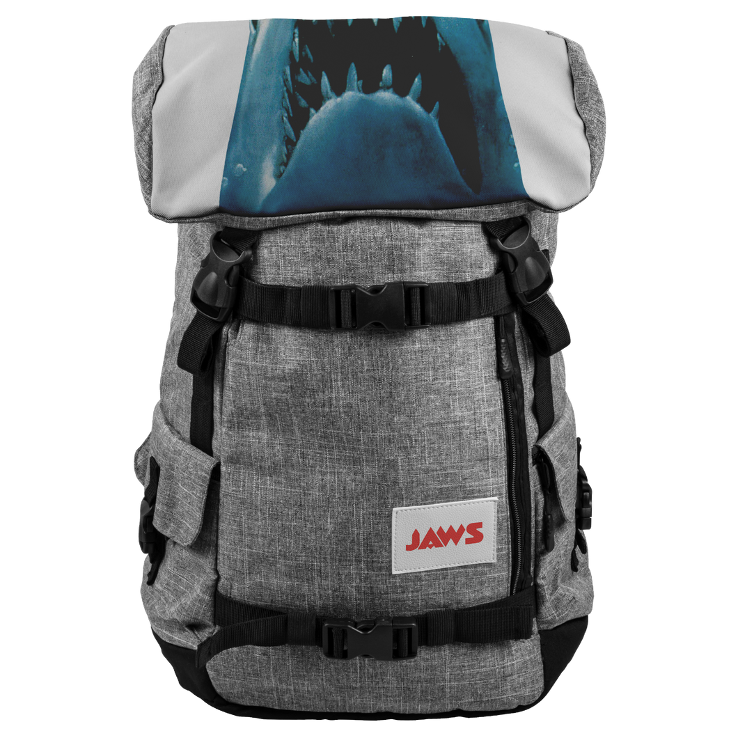 JAWS  Backpack - Just The Shark From The Classic Cult Hit • Get Back To School With This Cult Classic Shark Backpack - House Of 1000 T Shirts