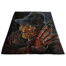 Freddy Krueger From Nightmare On Elm Street Fleece Blanket • Original Design By Joel Shelton • Classic 80s Horror - House Of 1000 T Shirts