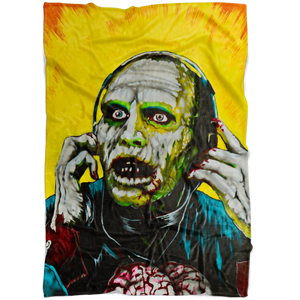 Bub From Day Of The Dead Fleece Blanket • Original Design By Joel Shelton • Classic 80s Horror