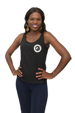 Logo Tank in Black (Unisex & Ladies)
