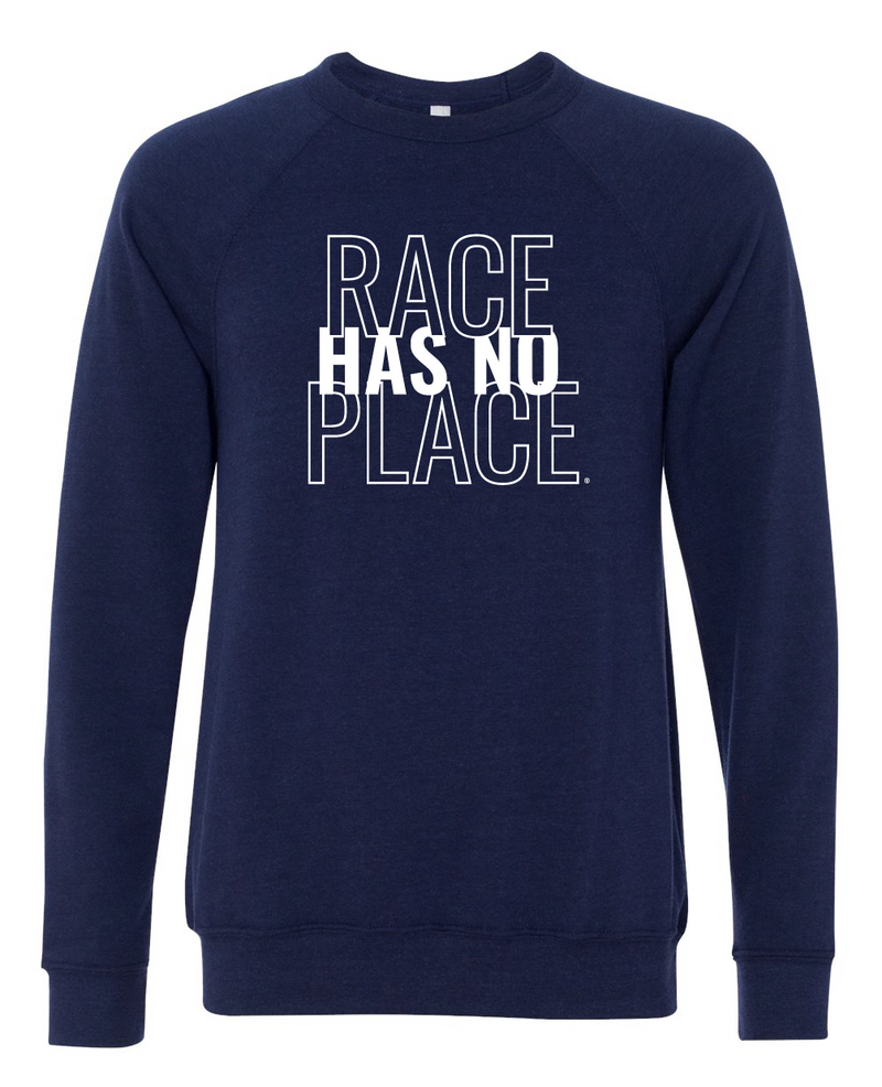 Navy Fleece Raglan Sweatshirt (Unisex)