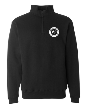 Logo Quarter-Zip in Black  (Unisex)
