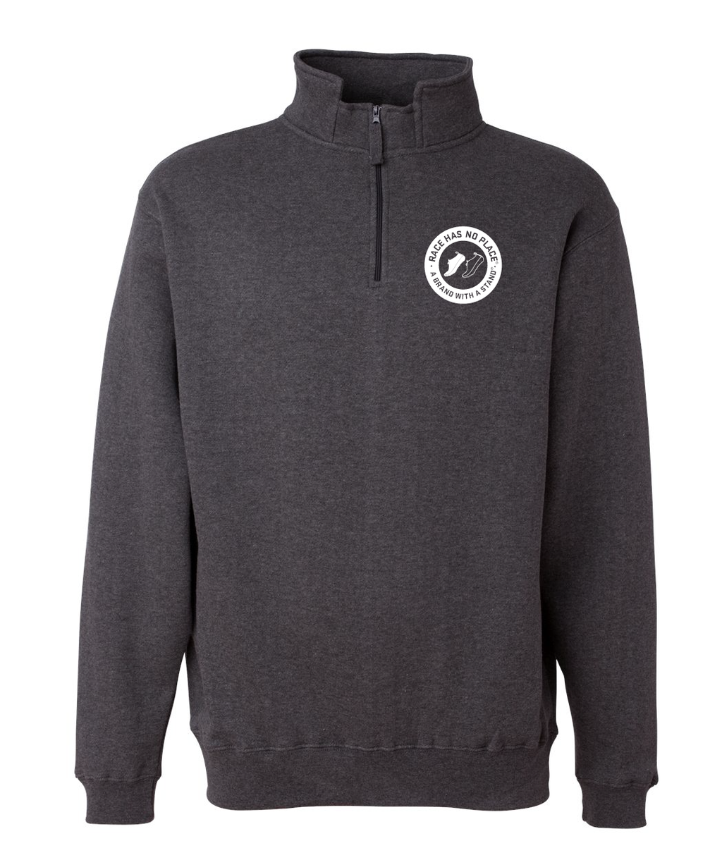 Logo Quarter-Zip Charcoal Heather  (Unisex)