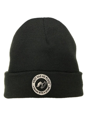 Embroidered Beanie in Black
