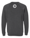 Dark Grey Heather Fleece Raglan Sweatshirt (Unisex)