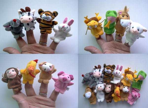 Larrikin Puppets | 12pcs Animal Finger Puppet Plush Child Baby Early Education Toys Gift Finger toy Puppets baby toy #YL