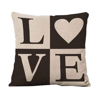 Passion For Romance | Square Pillow Cover Case Toss Pillowcase Hidden Zipper Closure pillow case vintage