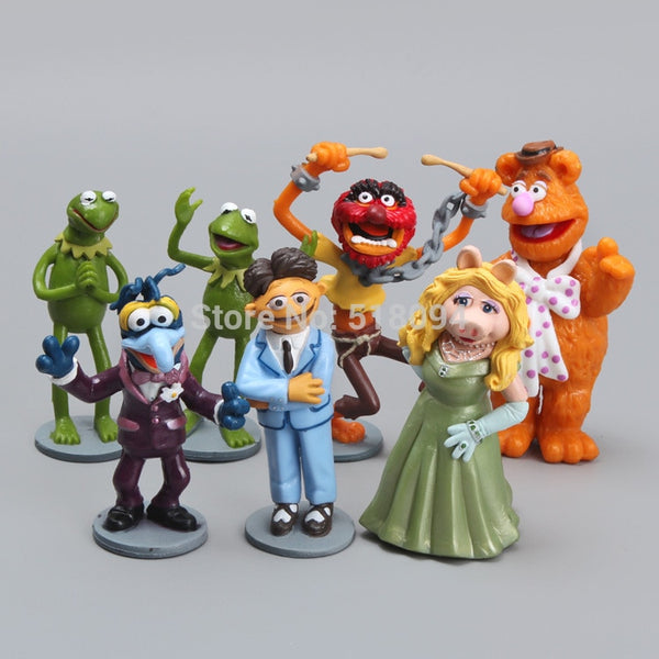 Larrikin Puppets | Free Shipping Anime Cartoon The Muppets PVC Action Figure Model Toys Dolls 7pcs/set Christmas Gift Child Toys DSFG117