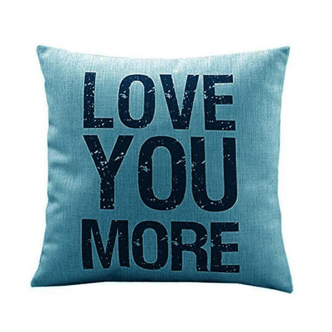 Passion For Romance | Love you More Cotton Linen Cushion Throw Pillow Covers Pillowslip Case