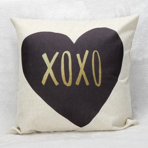 Passion For Romance | XOXO Print Pillow Case Cushion Cover Home Décor
