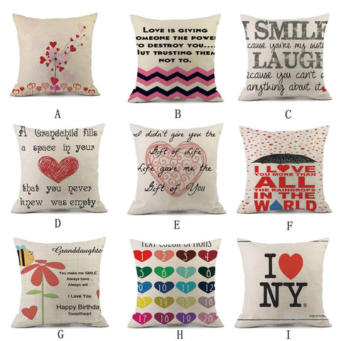 Passion For Romance | Pillow Cases Linen Sofa Cushion Cover Home Decor Pillow Case