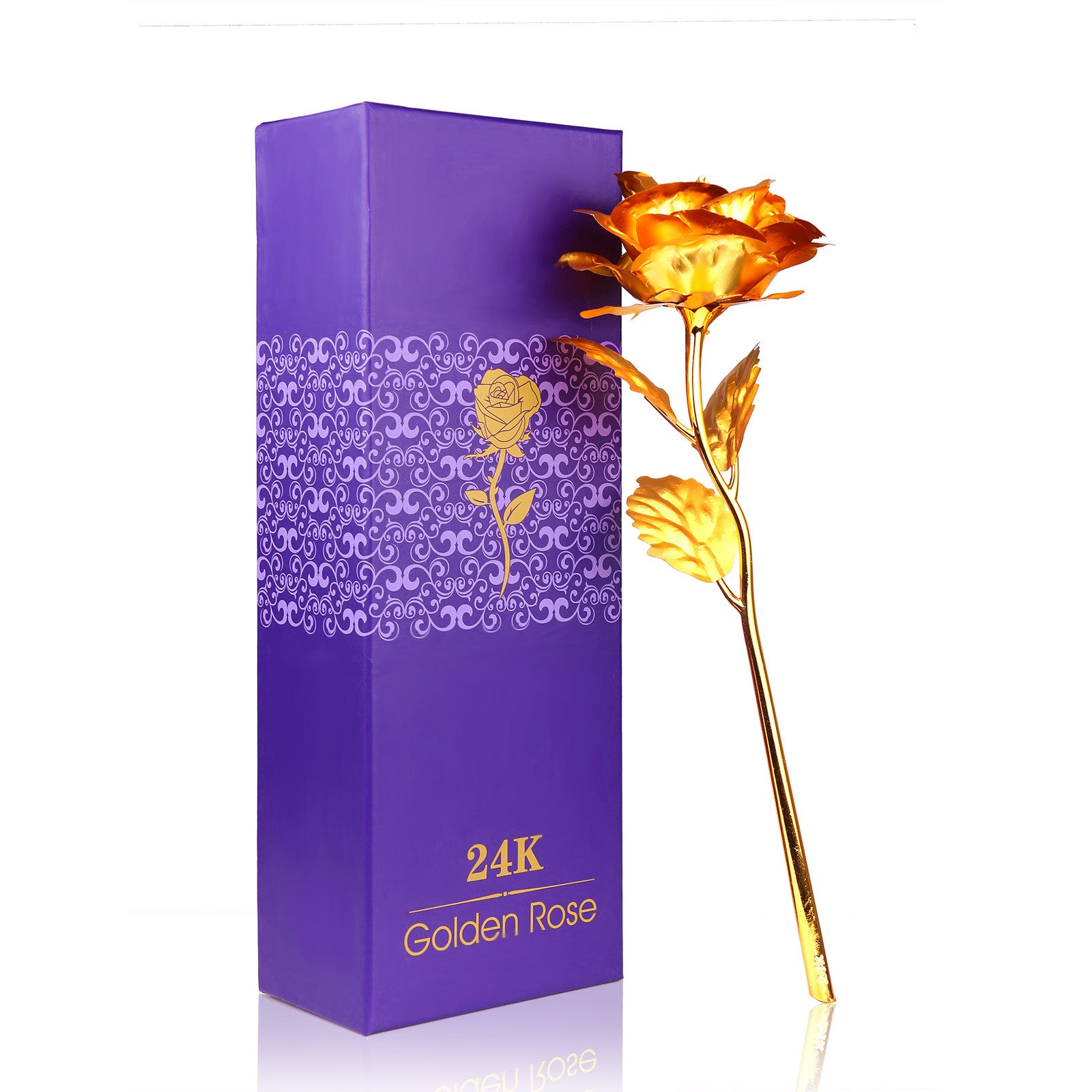Passion For Giving | Women's Gift | 24K Gold Plated Rose Flower Decoration | Artificial Flowers