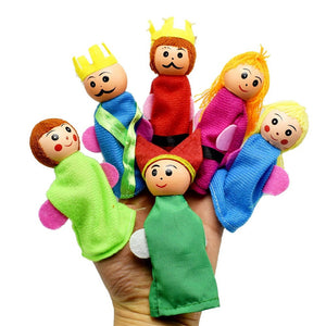 Larrikin Puppets | 6PCS/Set King And Children Finger Puppets Hand Puppets Christmas Gifts