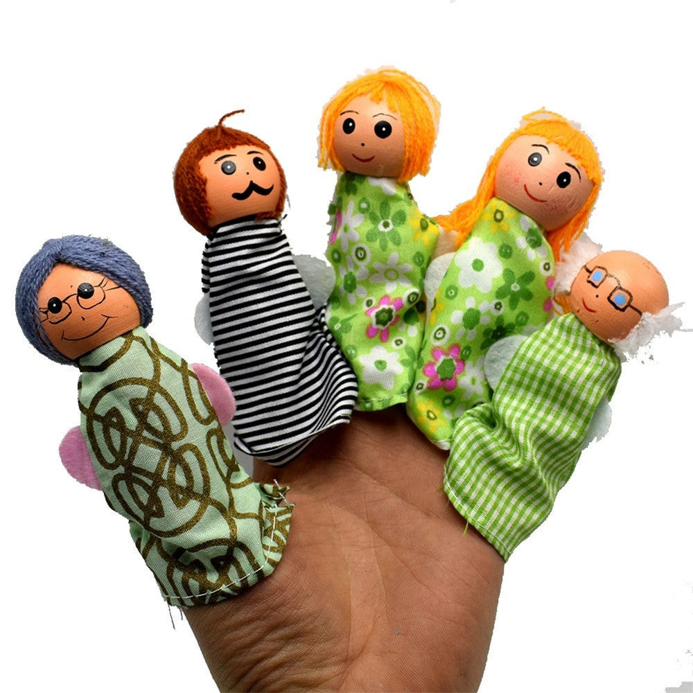 Larrikin Puppets | 5PCS/Set Whole Family Finger Puppets Hand Puppets Christmas Gifts
