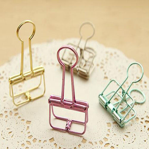 Passion for Work | Office Dovetail Clamp, Long Tail Clips, 10Pcs