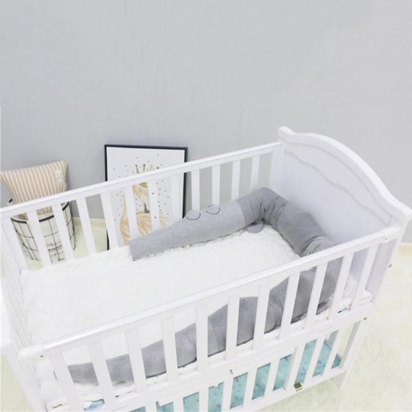 Passion for Parenting | 185 cm Baby Cute Bed Bumper Newborn Baby Cartoon Crocodile Bedding Protector Toddler Crib Cot Bumper Kids Room Decoration Toys