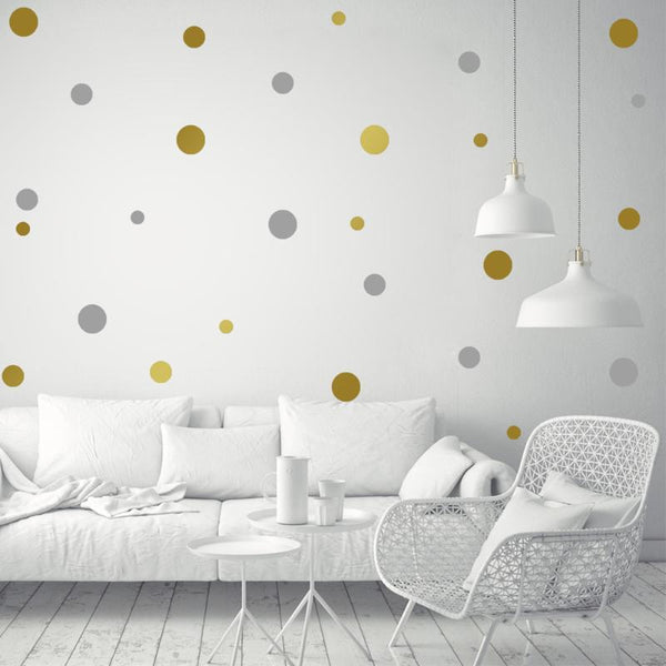 Passion for Decor | Creative Dots Wall Stickers DIY Kids Bedroom Background Decoration Wall Stickers for Kids Rooms DIY Poster Stickers