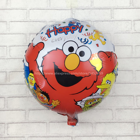 Larrikin Puppets | XXPWJ Free shipping 5pcs / lots balloon cartoon decorative aluminum Sesame Street children's toys, party balloons I-079