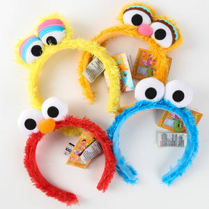 Larrikin Puppets | 1 pcs Creative Kawaii Sesame Street Elmo Big Bird Cookie STUFFED DOLL TOY Headband hair band for children toy gift supplies