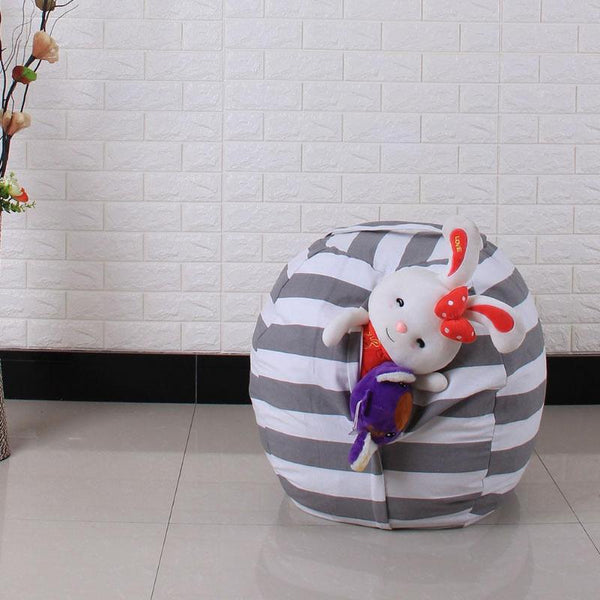 Passion for Decor | Household Organizer Stuffed Animal Storage Bean Bag Foldable Clothes Storage Bag Chair Portable Kids Toy Storage Package