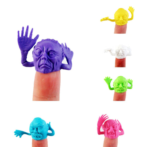 Larrikin Puppets | 6pcs Animal Finger Puppet Color Face Doll Child Baby Early Education Toys Gift