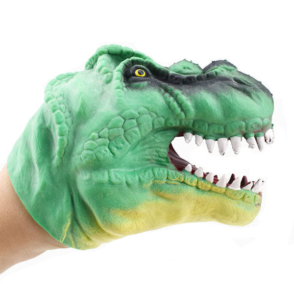 Larrikin Puppets | Dinosaur Hand Puppet Baby Infant Kid Toy Plush Toys Silica Gel Spoof