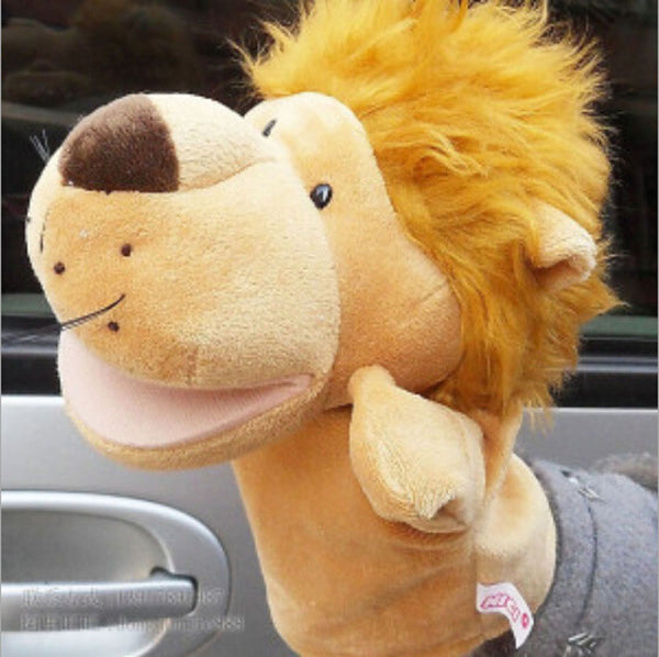 Larrikin Puppets | Wenhsin Classic Kids Animal Hand Puppet Toys Kawaii Children Hand Puppet Novelty Cute Dog Monkey Lion Muppet Free Shipping