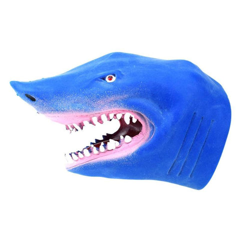 Larrikin Puppets | Soft TPR Blue Vividly Shark Hand Puppet Gloves Children Kids Toy Animal Puppet Dolls for Stories Model Gift Baby Toy