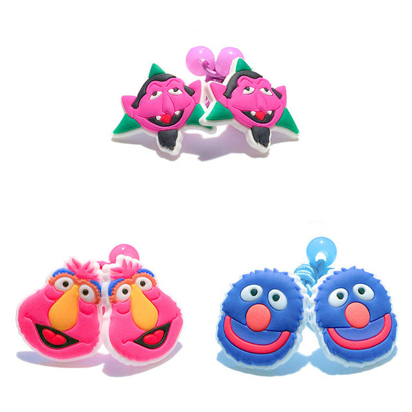 Larrikin Puppets | 1-5Pairs Sesame Street New High Quality Colorful Elastic Hair Bands Tie Gum Ponytail Holder Cartoon Kids Travel Accessories