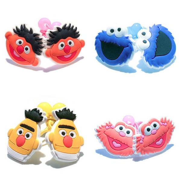 Larrikin Puppets | 1 Pair Sesame Street Inspired New High Quality Colourful Elastic Hair Bands Tie Gum Ponytail Holder Cartoon Kids