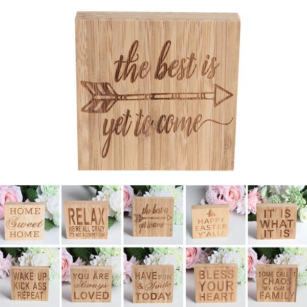 Passion for Decor | THE BEST IS YET TO COME Block Sign Plaque Decorative Words Block Sign for Home Office Party Decoration