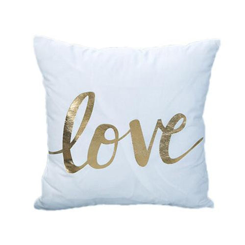 Passion For Romance | Bronzing Cushion Cover Gold Printed Pillow Cover Decorative Pillow Case Sofa Seat Car Pillowcase Soft