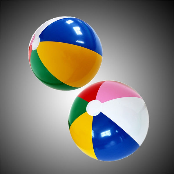 Passion For Fun | 6pcs Rainbow Color Party Pack Inflatable Beach Balls Cute Balls for Beach Swimming Pool Parties