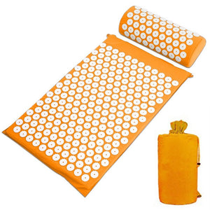 Passion For Self Care: Massager Cushion Mat Acupressure Relieve Back Body Pain Spike Mat Acupuncture Massage Yoga Mat with Pillow