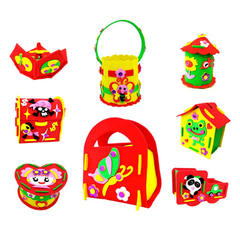 Passion for Diy | 8pcs 3D Stickers Art Educational Toys Crafting DIY Supplies Storaging Case Saving Pot for Kids Kindergarten