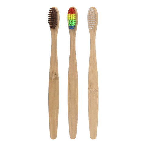 Passion For Self Care | 3pcs Natural Bamboo Toothbrush Soft Eco-friendly Bamboo Toothbrushes