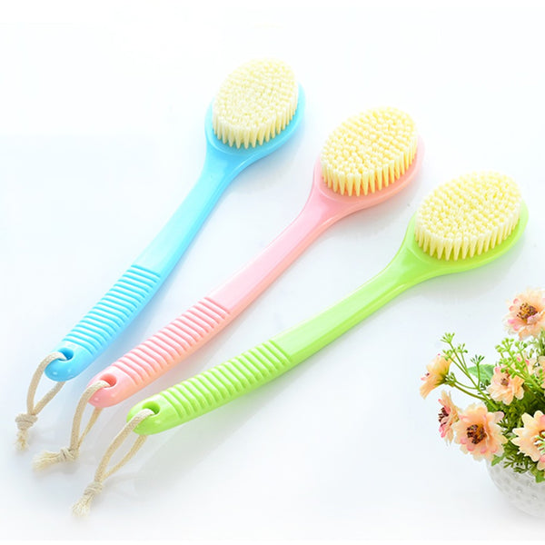 Passion For Self Care | Long Handle Bath Brush Soft Antiskid Shower Brush Back Scrubber Massager with Hanging String