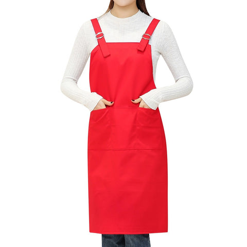 Passion For Cooking | Women Casual Solid Cooking Chef Kitchen Restaurant Bib Apron Dress Pocket Apron