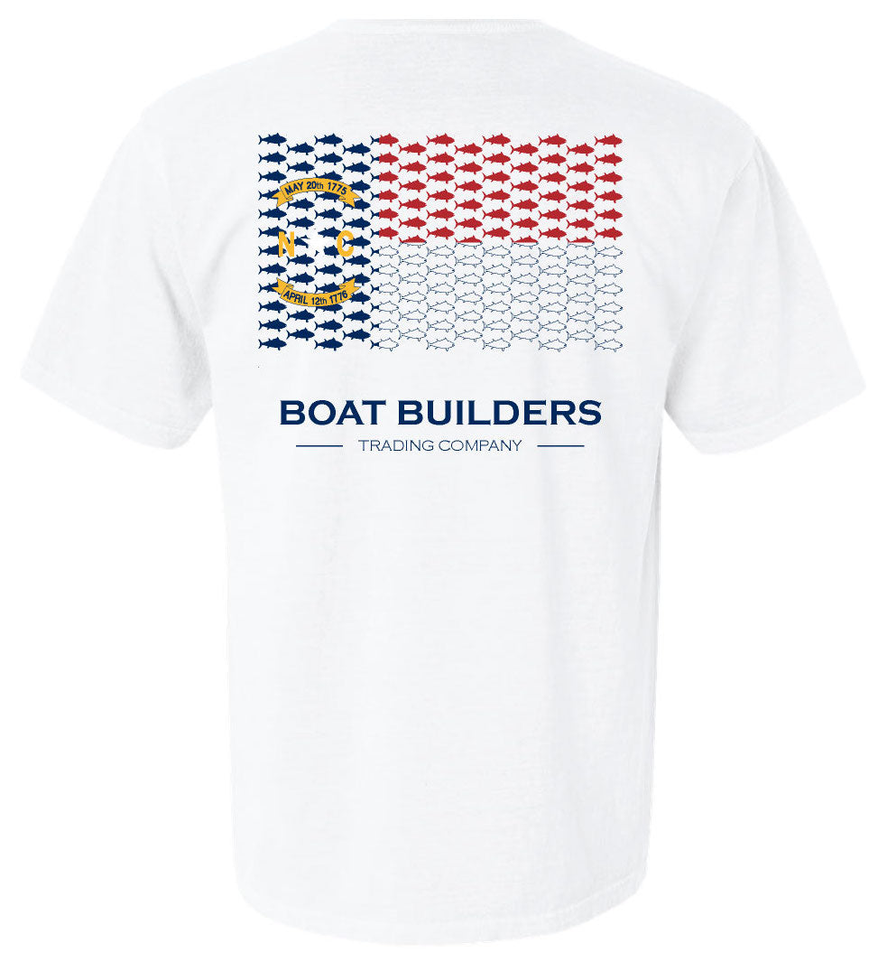 Boat Builders Trading Co. - NC Tuna Flag Short Sleeve