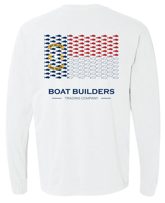 Boat Builders Trading Co. - NC Tuna Flag Long Sleeve