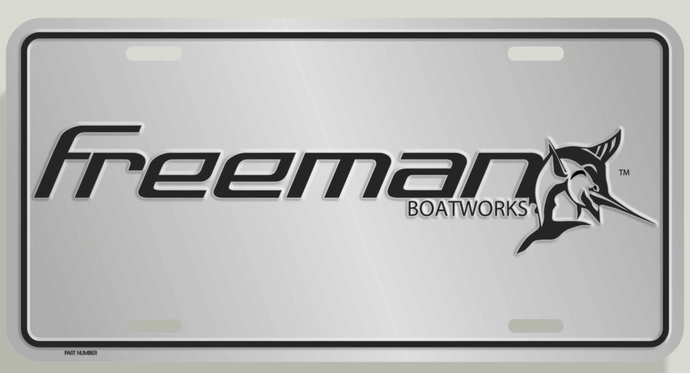 Freeman Boatworks License Plate