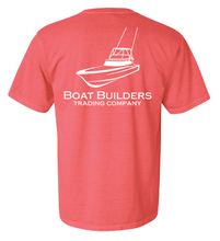 Boat Builders Trading Company Sportfisher Logo short sleeve - Coral